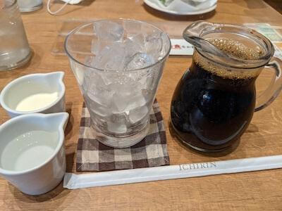 一凛珈琲 箕面本店のアイスコーヒー